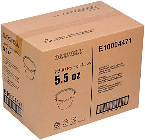 Daxwell Polypropylene Portion Cups (without lids) Clear, 5.5 oz, 2 3/8