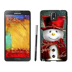 Note 3 Case,Red Hat Snowman TPU Black Samsung Galaxy Note 3 Cover Case,Note 3 Cover Case