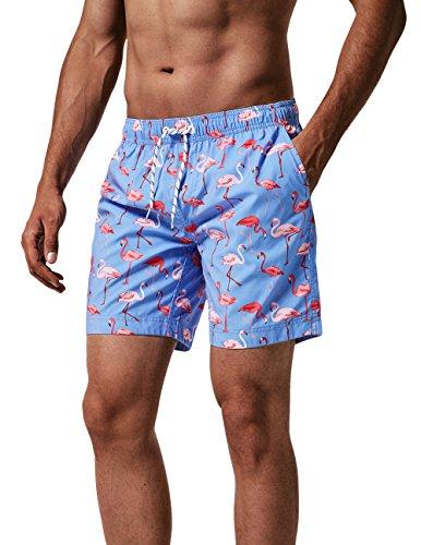 MaaMgic Mens Slim Fit Quick Dry Short Swim Trunks