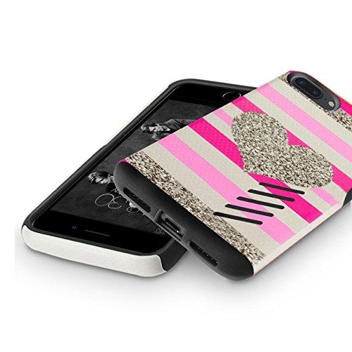 Funda iPhone 8 Plus, Orzly® Grip-Pro Case para iPhone 7 PLUS/iPhone 7 PLUS (5,5 Pulgadas Modelo Teléfono Móvil) - Funda durable y ligero Capa Doble de mayor agarre y defensa - AZUL ACERO CORAZÓN GripPro para iPhone 7 PLUS