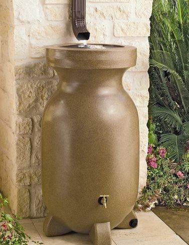 KYOTO Koolscape RBSS-75 75-Gallon Rain Barrel, Sandstone-Finish