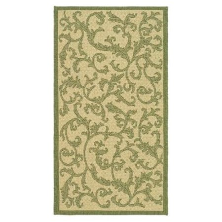 Safavieh Courtyard Collection CY2653-1E06 Olive and Natural Indoor/ Outdoor Area Rug (5'3