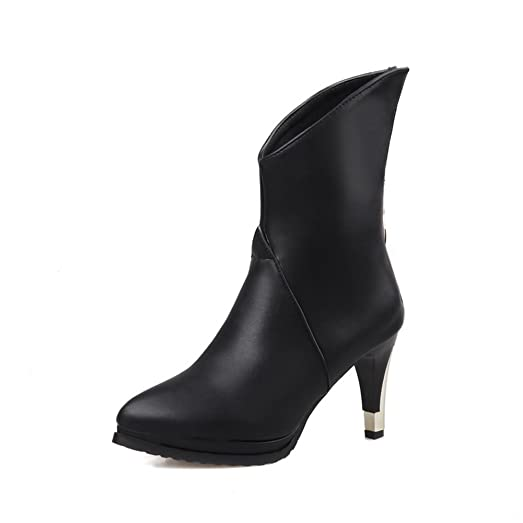 Girls Winkle Pinker Back Zipper Platform Imitated Leather Boots