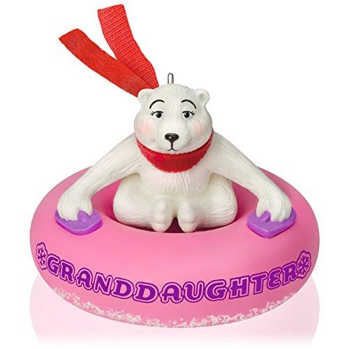 Hallmark Keepsake Ornament: Granddaughter Polar Bear in Snow Tube