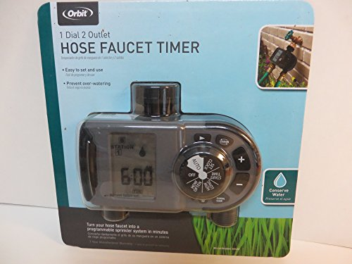Orbit Hose Faucet Timer 2-Outlet Lawn Garden Watering Irriga