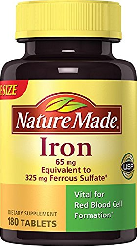 Nature Made Iron 65 mg Tablets 180 ea - Pack of 5 by Nature Made me