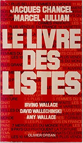 Amazon Fr Le Livre Des Listes Jacques Chancel Marcel