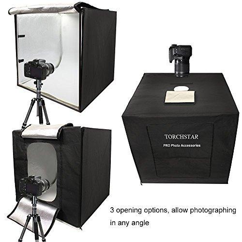 Studio Lighting Reviews: TORCHSTAR PRO 24''x24''x24'' Portable LED Photo Lighting