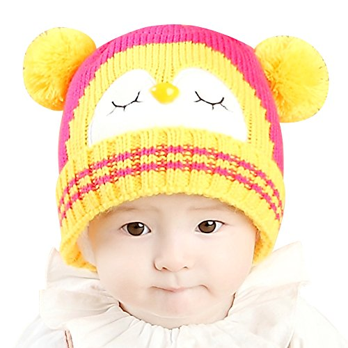c3cd6e28f82 IMLECK Kids Cute Cartoon Owl Winter Hat Toddler Warm Beanie Hat - Fits 3  months old to 2 years old. D. A. B. C. E