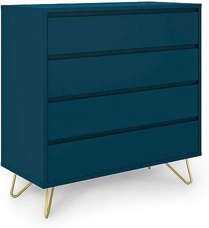 Mobilier Cassettiera Decorativa 40 X 90 X 90 Cm Colore Blu Amazon It Casa E Cucina