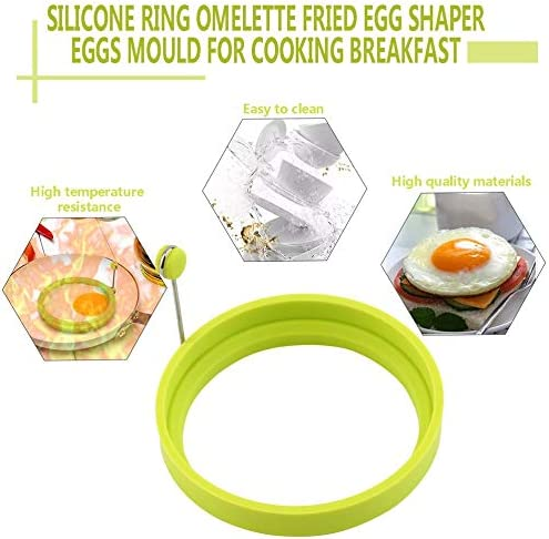 Silicone Ring Omelette Fried Egg Shaper Eggs Mould Egg Shaper For Cooking