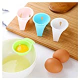 ♚Rendodon♚ Kitchen Tools, Food Storage, Creative Egg Yolk Egg Separator, Egg Liquid Filter, Kitchen Tool Gadget Convenient Egg Yolk White Separator Divider Holder Sieve (Random)