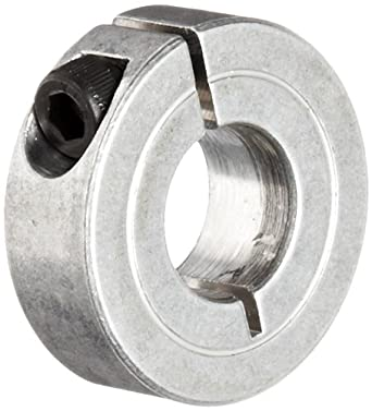 Zinc Plating 11//16 Width Steel Climax Metal 1C-200-Z One-Piece Clamping Collar 3 OD 2 Bore