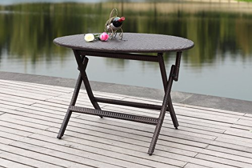 Safavieh Patio Collection Ellis Round Folding Table (Ellis Outdoor Living)
