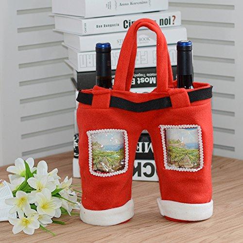 Christmas Decorations Large Christmas Coke Bottle Gift Bag Christmas Candy Bag Christmas Gift Bag Transparent double wine bottle cover