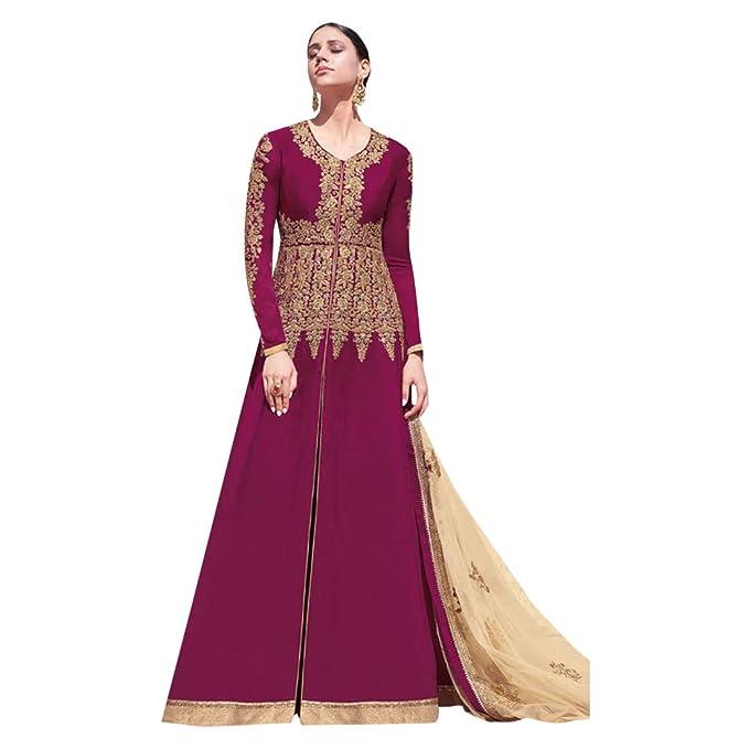 Amazon.com: Anarkali 7472 - Traje de boda para mujer, color ...