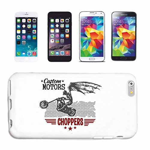 "cas de téléphone iPhone 6S ""CUSTOM MOTEURS CHOPPERS VINTAGE Motard SHIRT MOTO CHOPPER MOTO GOTHIQUE SKULL MOTO CLUB BIKE ROUTE 66"" Hard Case Cover Téléphone Covers Smart Cover pour Apple iPhone en bla"