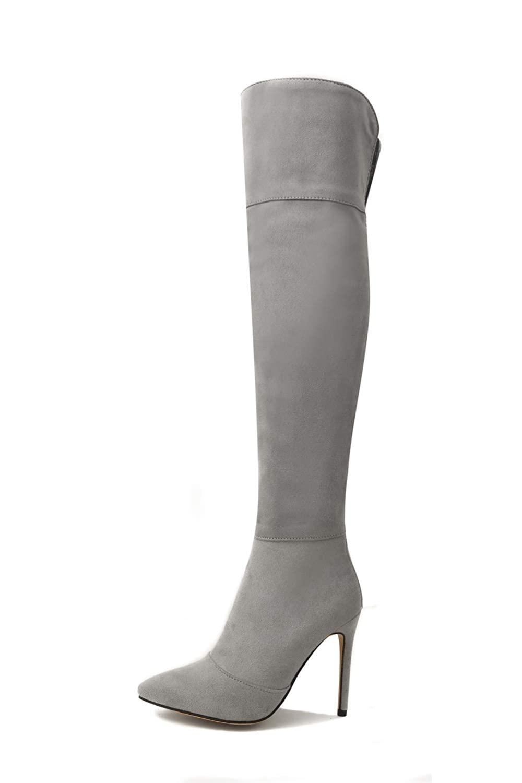 AN DKU02597 Damen Damen Damen Durchgängies Plateau Sandalen mit Keilabsatz Grau - grau - Größe  EU 37 31a183
