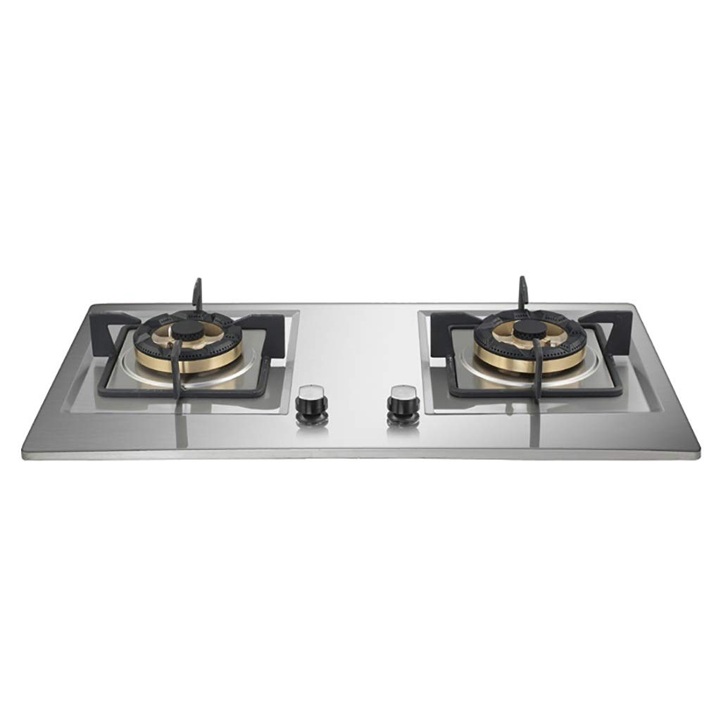 LQ-Stoves Gas Cooktops, Kitchen Energy Saving Thick Stainless Steel 2 Burner Cooker, Embedded, cooktop Dual-use Natural Gas Cooktops 73042070mm by LQ-Stoves