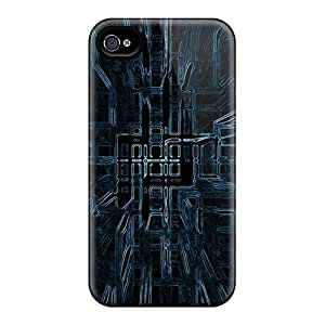 Sanp On Case Cover Protector For Iphone 4/4s (melting Squares Abstract)