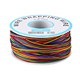 Akozon Colored Insulation Cable,P/N B-30-1000 280M 8-Wire Colored Insulation Test Wrapping Wire Tinned Copper Solid Cable