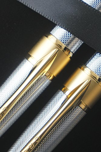 Cross Limited Edition in elegant haberdashery finishes Apogee Executive Diamond Cut Elegant 23KT Gold Medalist Selectip with Gel Ink Rollerball pen and Ballpoint Pen A great corporate gift by A.T.. CROSS