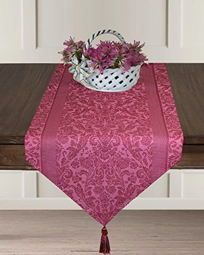 Armani International Table Runner 18 x 90 Tasseled Two Ply Twisted Linen Cotton Made in Europe ()