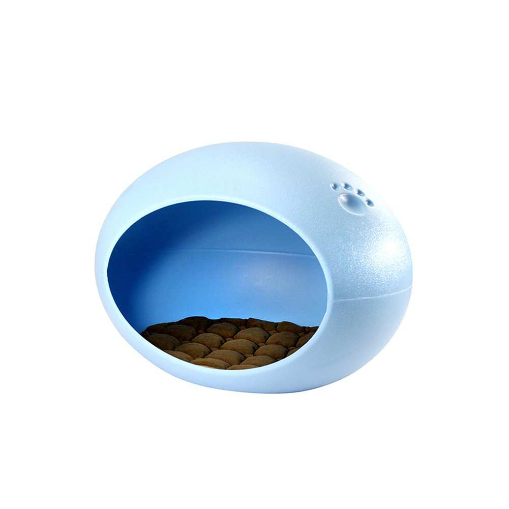 bluee YNZYOG Plastic Plastic Dog Kennel Cat Nest Summer Anti-biting Non-stick Hair Removable Teddy Pet Nest (color   bluee)