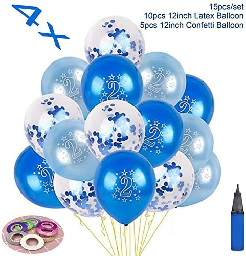 10 Pcs Multi Confetti Balloons Happy Birthday Party Decorations Kids