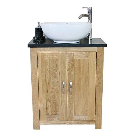 310BQCBC Rovere massiccio bagno lavabo lavandino in ceramica quarzo ...