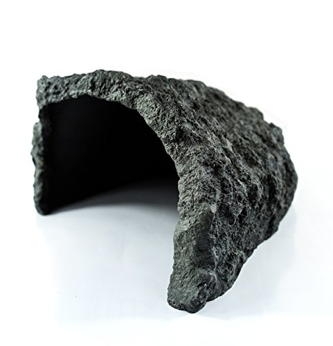 Reptile Rock Hide Cave,Motina Pet Tortoise Escape Habitat Cave,Handcrafed from Premium and Non-Toxic Resin - 10.23 x 9.05 x 5.11 Inches ,Ideal for Small Lizards, Frogs, Turtles, Frogs,Snakes. from MOTINA