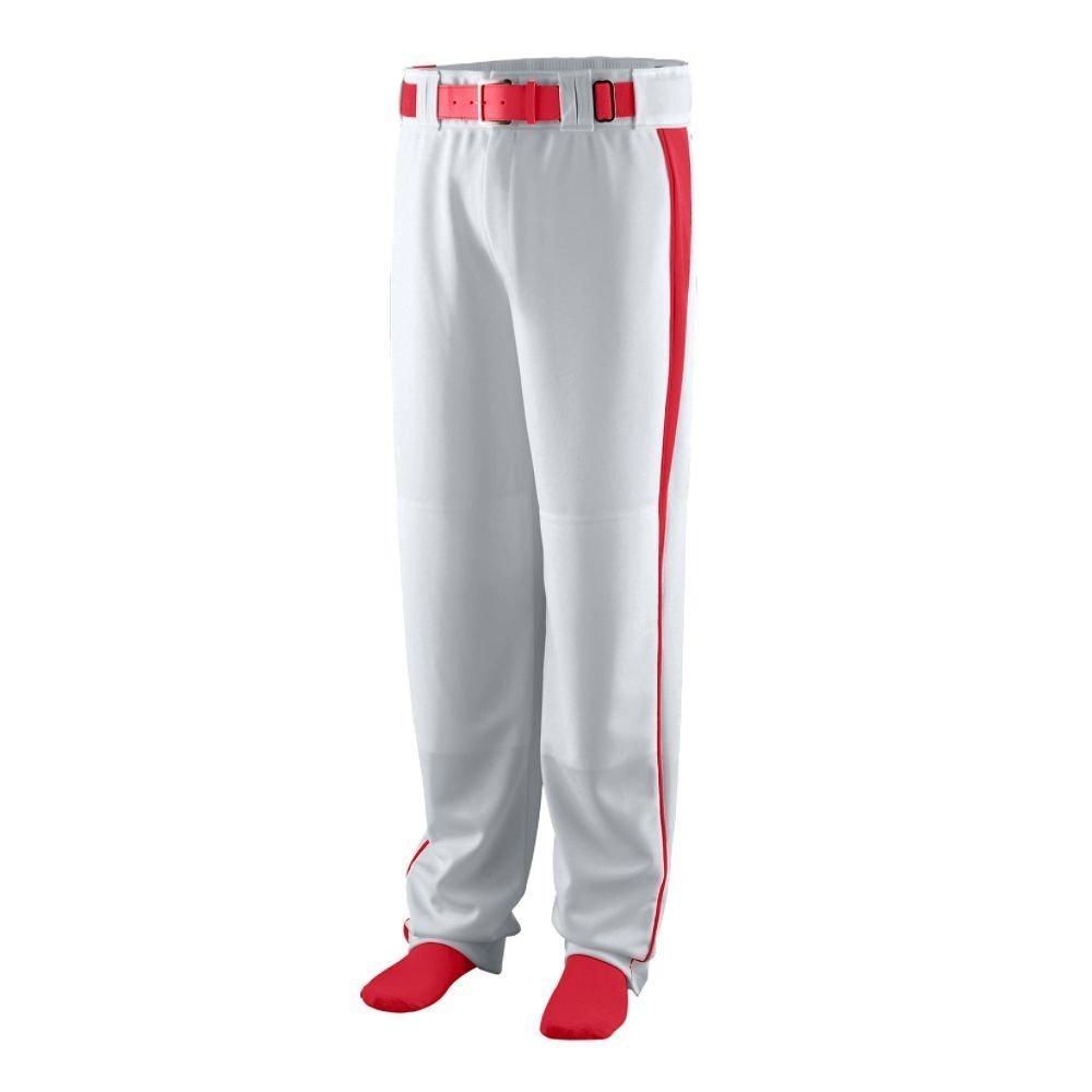 Augusta Sportswear Boys ' Triple Play Baseball Pant B00HJTJEPC Medium|Silver Grey/Red Silver Grey/Red Medium