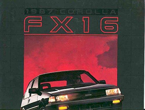Toyota Corolla Catalog - 1987 Toyota Corolla FX16 Sales Brochure