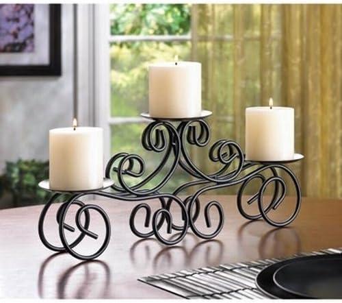 CraftVatika Pilar Vela soporte para vela con tablero de la mesa de ...