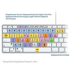 Propellerhead Reason Atajos de Teclado Pegatinas Etiquetas - Para MAC