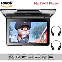 "11.6""1080P Flip Down Monitor for Car Overhead Monitor for SUV Roof Mount Video Monitor for Van with HDMI IR Transmitter 2 Pieces Wireless Headphones"
