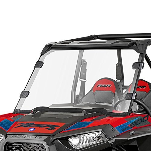 Clear UTV Full Windshield for Polaris Razor, 14-18 RZR XP 1000, 14-18 RZR XP 4 1000, 15-18 RZR 900, 15-18 RZR 4 900, 15-18 RZR S900, 15-18 RZR XC 900, 14-18 RZR 1000, 16-18 XP Turbo