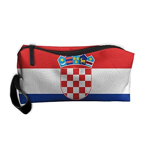 Croatia Flag Pattern Makeup Bag Calico Girl Women Travel Portable Cosmetic Bag Sewing Kit Stationery Bags Fashion Storage Pouch Bag Multi-function Bag (Wholesale Ipod Shuffle)