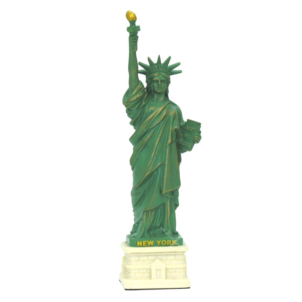 Statue of Liberty Statue Sculpture from New York City Liberty Island Collection Souvenirs (8 Inches Tall)