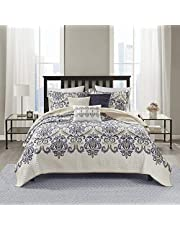 Madison Park 6 Piece Quilted Coverlet Set, King/California King, Blue