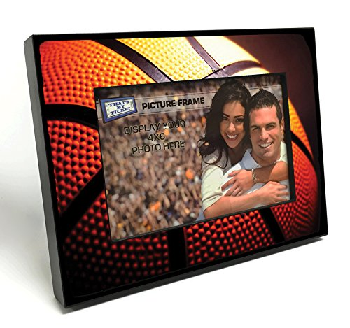 That's My Ticket Basketball Wooden 4x6 inch Picture Frame