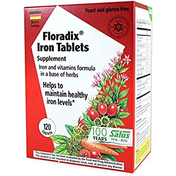 Floradix Iron Tablets 120-Count