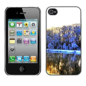 Paccase / SLIM PC / Aliminium Casa Carcasa Funda Case Cover - Very beautiful snow - Apple Iphone 4 / 4S