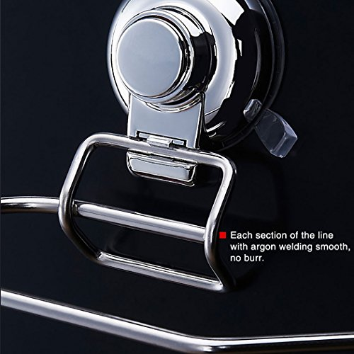 FUNRUI SUS304 Stainless Steel Suction Toilet Roll Holder No Drilling Bathroom Kitchen Accessories Tissue Towel Roll Holder Hook Hanger Chrome Plated by FUNRUI (Image #4)