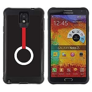 """Pulsar iFace Series Tpu silicona Carcasa Funda Case para SAMSUNG Galaxy Note 3 III / N9000 / N9005 , Significado del anillo minimalista de color rojo oscuro"""""""