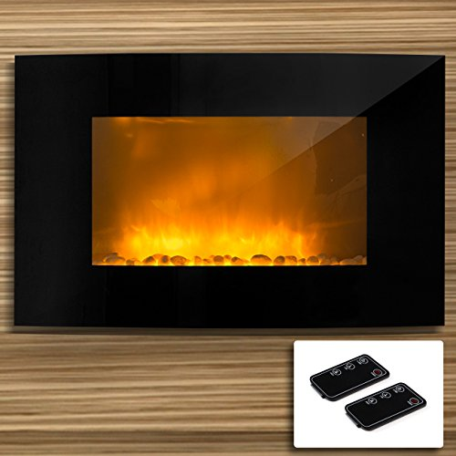 Cheap 1500 WATTS Electric Fire Place Wall Mounted Heater W/ Remote Control Fire Effect Black Friday & Cyber Monday 2019