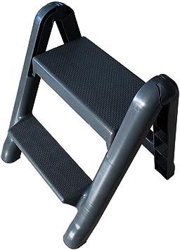 Escalera de pie Escalera portátil de dos pasos Escalera plegable para uso doméstico Escalera telescópica Escalera de dos pasos Escalera plegable: Amazon.es: Bricolaje y herramientas