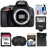 Nikon D5600 Digital SLR Camera Body with 32GB Card + Battery + Case + Flash Kit (Certified Refurbished)