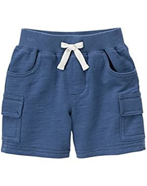 Baby Toddler Boys' Blue Slub Terry Short