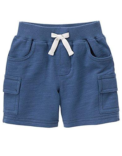 Gymboree Baby Toddler Boys' Blue Slub Terry Short, Multi, 12-18 Months